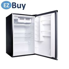 NEW Refrigerator Compact Haier size 4 5 cu ft Virtual Steel Silver Glass Sh