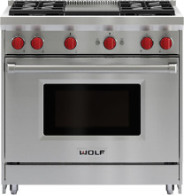 Wolf GR364G 36  Gas Range w  Dual Convection and Infrared Griddle