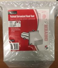 Lambro   370 4  Heavy Duty Painted Galvanized Dryer Vent Hood w Weighted Damper