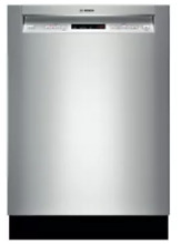 Bosch SHE53TL5UC 300 DLX Series Full Console Dishwasher Stainless Steel