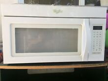 Whirlpool over the range microwave white