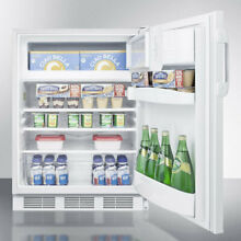 Accucold ADA Compliant 24 inch 5 1 cu ft  Undercounter Refrigerator with Freezer