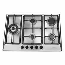 Ancona Ancona 30  Gas Cooktop with 4 Burners and Cast Iron Griddle