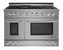 NXR Professional Ranges 48  Free standing Gas Range with Griddle NXRP1018
