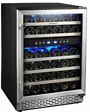Phiestina 46 Bottle Dual Zone Built in Wine Cooler