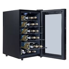 18 Bottles Home Bar Freestanding Thermoelectric Wine Cooler Temperature Display