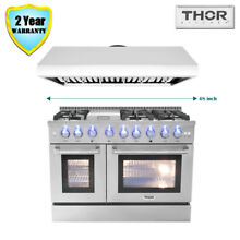 48  Thor Kitchen Dual Fuel Gas Range  48in Range Hood