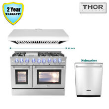 48  Thor Kitchen Dual Fuel Gas Range  48in Range Hood Dishwasher