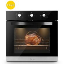 24  Electric Built in Single Wall Oven 220V Buttons Control 9 Cooking Mode Tool