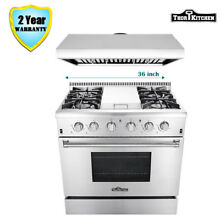 36  Thor Kitchen Gas Range With Griddle Stove Cooktop 6 Burners   36  Range Hood