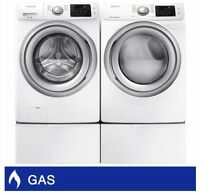 Samsung 4 5CuFt Capacity Washer 7 5CuFt GAS Steam Dryer with Sensor Dry