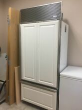 Fridge SubZero 650   O  36  Refrigerator Top Freezer Bottom Panel Ready Built In