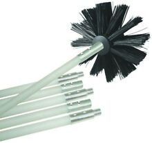 Dryer Vent Cleaning Kit Drill Powered Duct With Head Brush 6 Rods Lint Remover