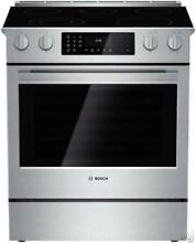 Bosch 800 Series 30  Slide in Electric Range HEI8054U Open Box   Excellent