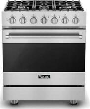 Viking 3 Series 30  5 Sealed Burners Freestanding Dual Fuel Range RVDR33025BSS