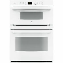 GE Profile Series White 30 inch Built In Combination Convection