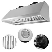 48  1200CFM Stainless Steel Home Kitchen Range Hood Ventilator Cooking Machine