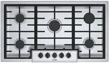 Powerful Bosch 5 Burner Gas Cooktop Stainless Steel Continuous Grates Appliances