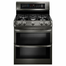 LG LDG4315BD 6 9 cu  ft  Gas Double Oven Range with ProBake Convection