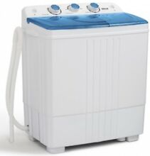 Top Load Washer and Spin Dryer Combo Portable Mini 14lbs Stackable Machine Blue
