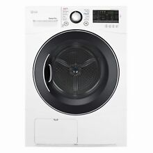 LG DLEC888W 4 2 cu ft  Compact Electric Condensing Front Load Dryer in White