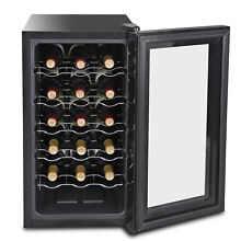 Freestanding Quiet Operation Wine Cooler Refrigerator 18Bottle W  Air tight Seal
