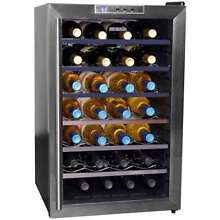NewAir 28 Bottle Thermoelectric Wine Cellar Refrigerator Cooler  Black Open Box
