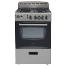 Avanti ER24P3SG 24 Inch Electric Range Stainless Steel