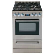 Avanti Elite 24 IN Freestanding Gas Range with Sealed Cooktop   Storage Drawer