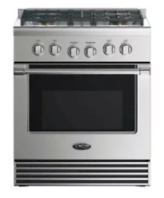 DCS RGV2 304L 30 Inch Liquid Propane Gas Range 4 Burners in Stainless Steel