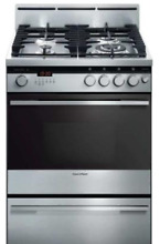 Fisher   Paykel 24 Inch Freestanding OR24SDMBGX2  Pro Style Gas Range Stainless