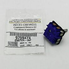 WP9759474 For Whirlpool Range Stove Surface Element Switch