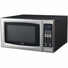 Oster OGZE1304S 1 3 Cubic Foot Black and Stainless Steel Microwave