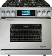 Dacor DYRP36DS Discovery 36  Dual Fuel Range Stove