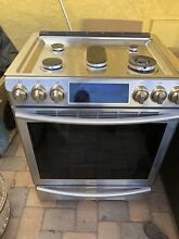 SAMSUNG NX58H9500WS Slide in Gas Convection Range   5 8 Cu Ft Stainless Steel