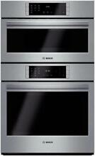 Bosch Benchmark Series 30 Inch 4 6 cu  ft  SS Combination Speed Oven HBL