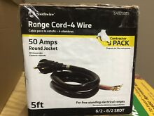 Southwire 5 ft  6 2 8 2 4 Wire Range Cord  3 pack