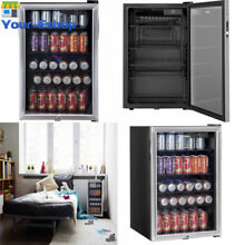 Can Beverage Center With Glass Door Shelves Lock Refrigerator Cooler Mini Fridge
