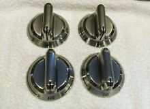 Lot of 4 Frigidaire Metal Cooktop Knobs