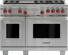Wolf 48  6 Dual Stacked Sealed Burners Pro Style SS Dual Fuel Range DF486GLP