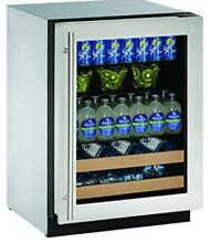 U Line 2224BEVS 00B 2000 Series 24 Inch Built in Beverage Center Stainless Steel