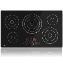 LG LCE3610SB Electric Cooktop  36 inch