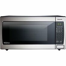 Panasonic NN SN766S 1 6 cubic foot 1250 watt Genius Sensor Microwave Oven with