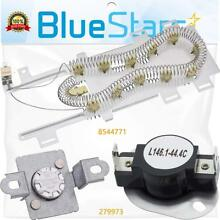 8544771   279973 Dryer Heating Element With Thermal Cut off Fuse Kit by Blue