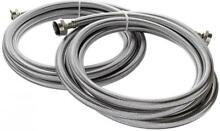 Kelaro 10 Foot Stainless Steel Washing Machine Hoses  2 Pack  Burst Proof