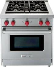 NIB Wolf 30  4 Dual Stacked Sealed Burners Pro Style SS Gas Range GR304LP