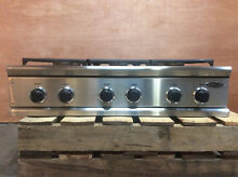 DCS 36 Range Top Stainless Steel 6 Burner Continuous Grates