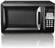 Microwave Oven 0 7 Cu  Ft  Black Countertop Small Compact Dorm Apartment Kitchen