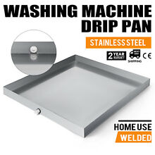 Washing Machine Drip Pan 32  x 30  Galvanized Steel Large Size Durable Tool Tray