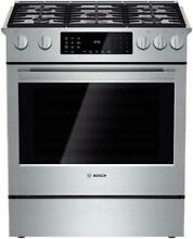 Bosch Benchmark 30  4 6 cu ft  Convection Oven Slide in Dual Fuel Range HDIP054U
